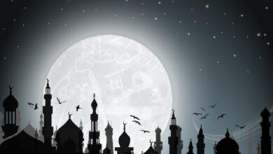 خلفية إسلامية أبيض و أسود.