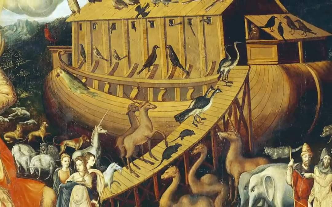 مجسم تخيلي لسفينة نوح
