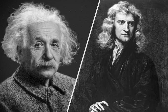 نيوتن وأينشتاين