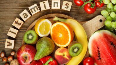 الأطعمة المحتوية على الفيتامينات