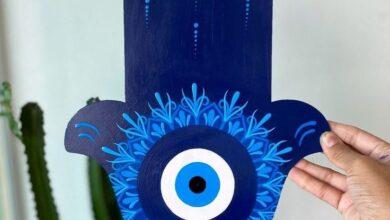 العين الزرقاء حظ سعيد