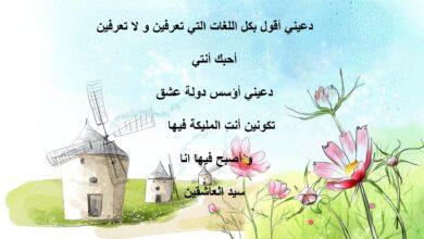 رسمة ملونة لمنزل ريفي و مكتوب عليها كلام رومانسي.