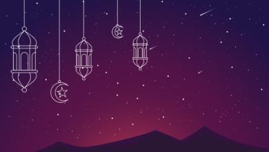خلفية رمضانية بدون كتابة فوانيس رمضان.